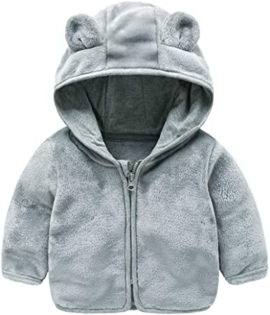 Pollyhb Newborn Infant Baby Boy Girl Sweater Cartoon Ear Knitted Hooded Tops Outfits