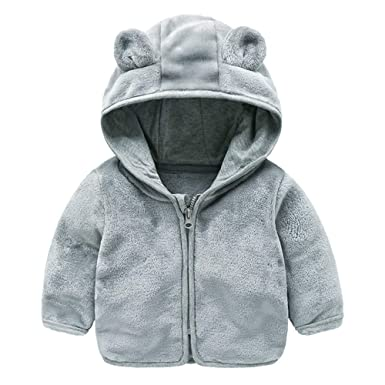 965d9f38d HOMEBABY Kids Baby Girl Boy Winter Warm Fleece Jacket Fluffy Cloak ...