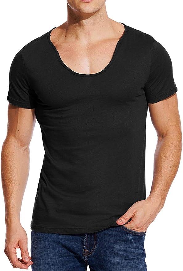 paquete de 6 Camisetas de cuello en V surtidas para hombres blancas