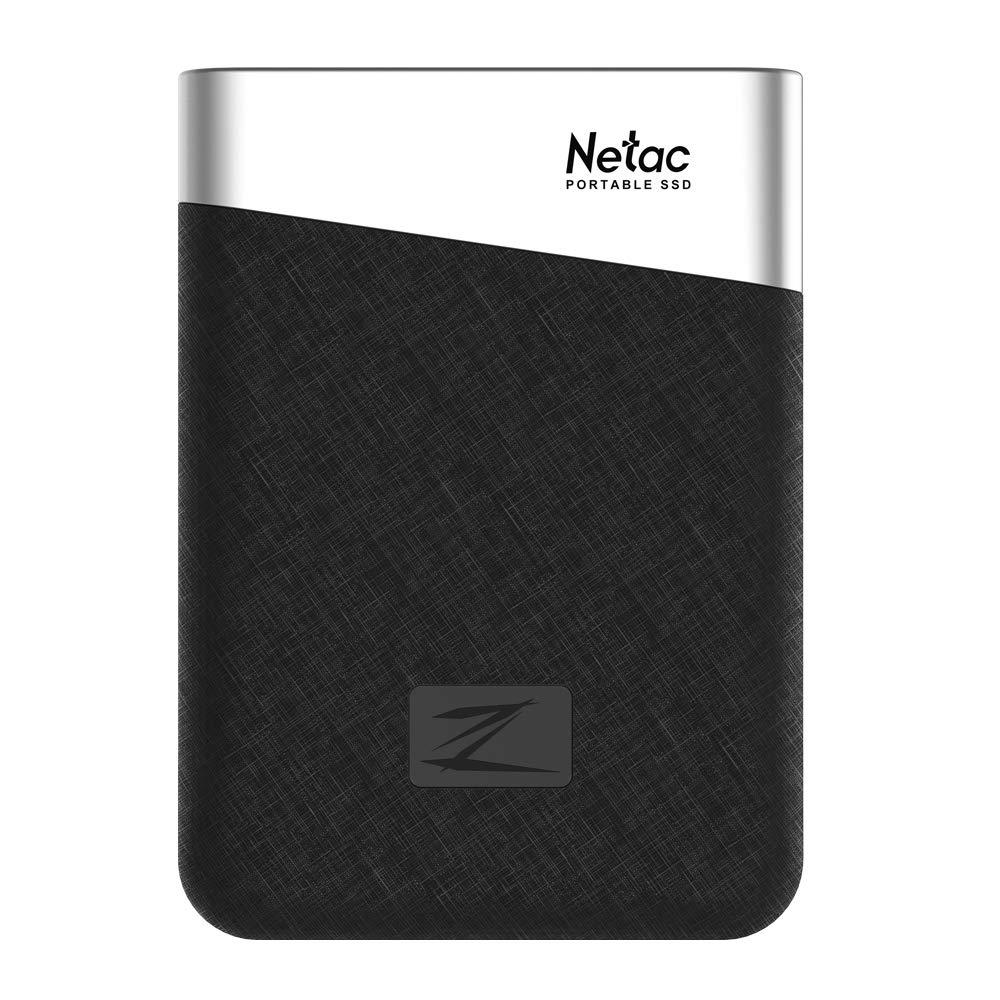 Portable External Solid State Drive-Netac Z6 240GB/480GB Mini SSD Storage with USB 3.1 Gen1 Type-C Interface (480GB)