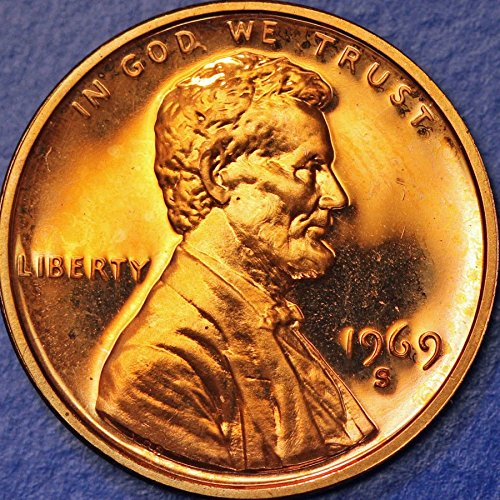 1969 S Lincoln Memorial Penny Cent Gem