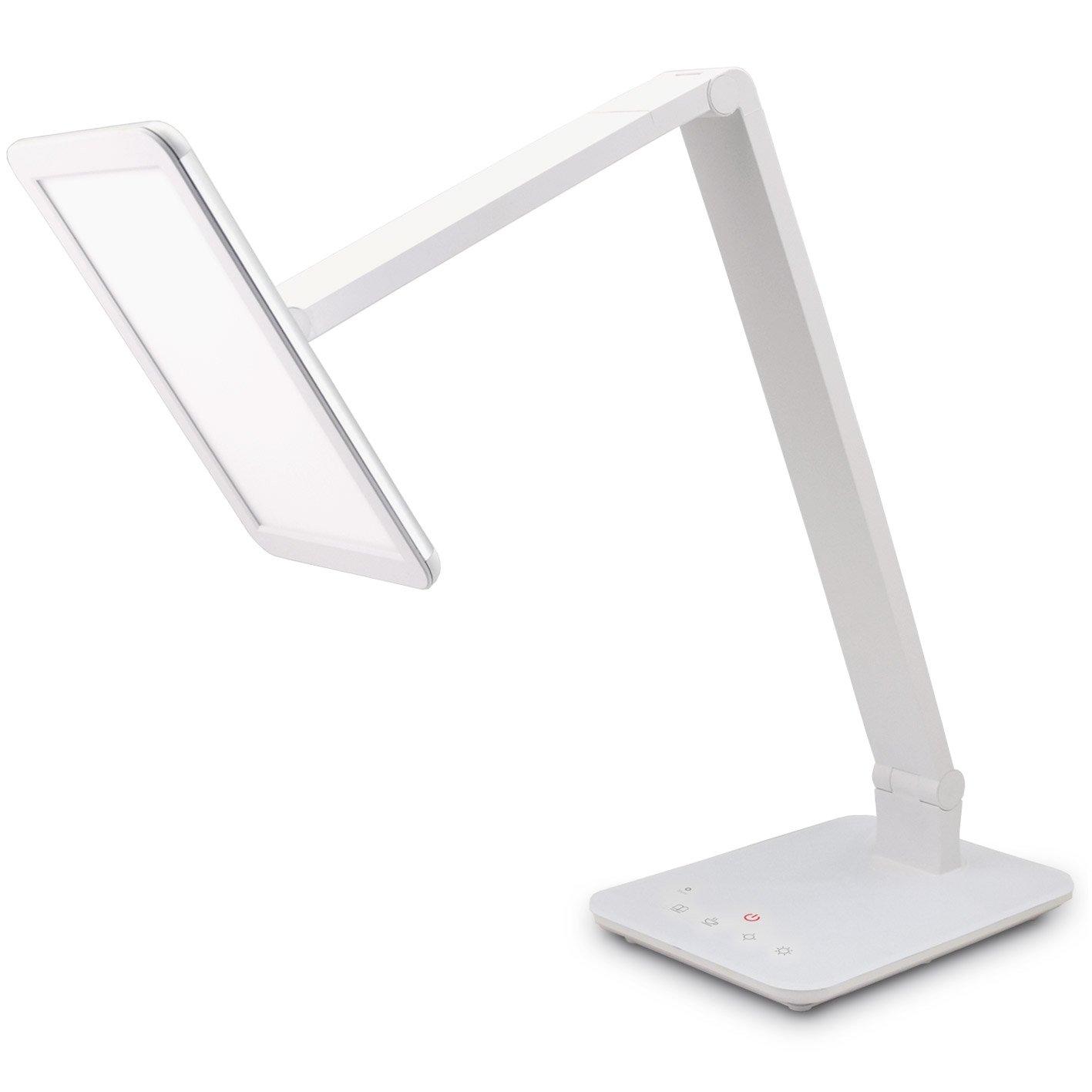 FeinTech LTL00100 LED Schreibtisch-Lampe Lichtfarbe warmweiß bis kaltweiß dimmbar 550 lm weiß [Energieklasse A]