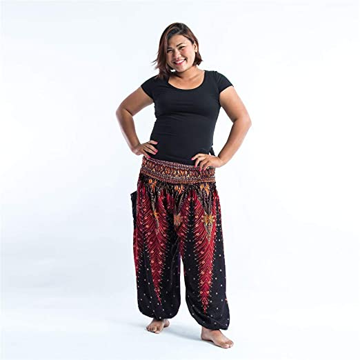 Amazon.com: Mldie Plus Size Women Casual Pantalones sueltos ...