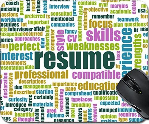 MSD Mousepad Mouse Pads/Mat design 20002016 Job Resume of a Well Written CV Concept