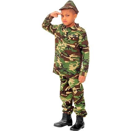 Amazon.com: Disfraz infantil de soldado del ejército (tamaño ...