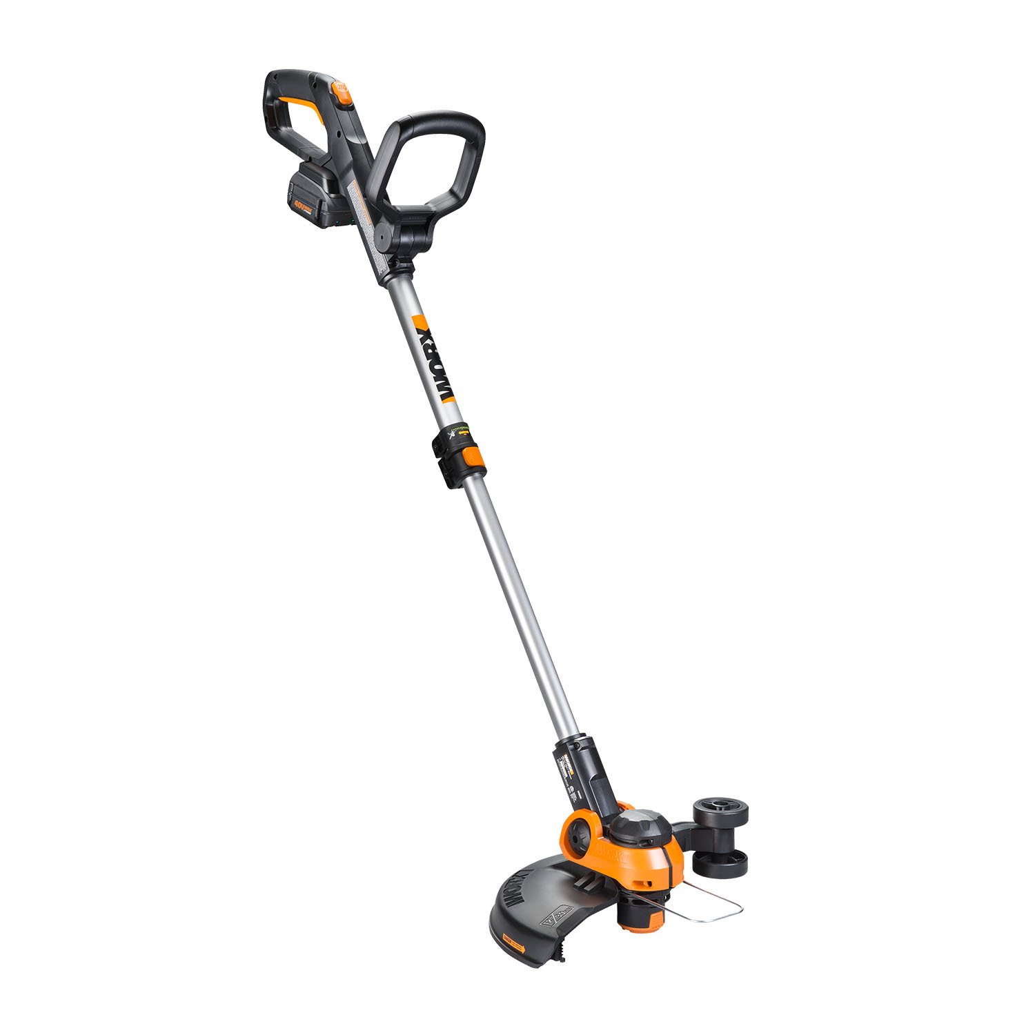Worx WG180 40 Volt GT3.0 Cordless Grass Trimmer with Battery and Charger Included Trimer, orange and Black