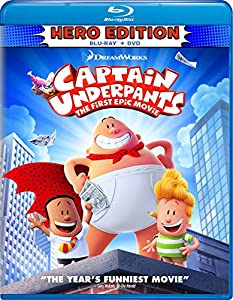 Cover Image for 'Captain Underpants: First Epic [Blu-ray + DVD + Digital HD]'
