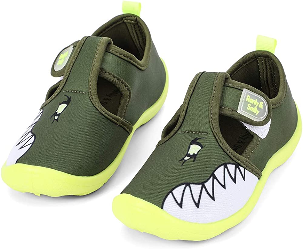 nerteo Boys Girls Cute Aquatic Water Shoes & Beach, Swim, Pool, Water Park & Toddler/Little Kid