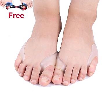 nonmon 2pcs juanetes almohadillas y 1 separador de dedos separador Toe Juego para los hombres y las mujeres: Amazon.es: Deportes y aire libre