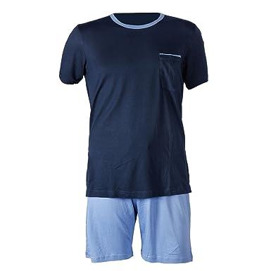 Herren Schlafanzug kurz Herren Pyjama kurz Herren Shorty Schlafanzug aus  50% Baumwolle 50% Modal  Amazon.de  Bekleidung 513ef124ab