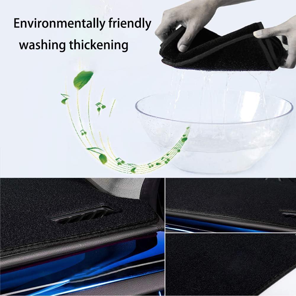 Anti-glare Black Line Maite Fit for Hyundai Sonata 2011-2014 Car Dashboard Cover Dash Mat with Silicone Non-Slip Bottom