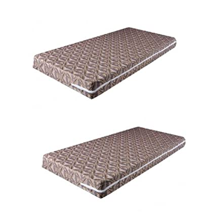 Trendz Decor Cotton Mattress Cover(36x72x6cm, Brown) - Set of 2