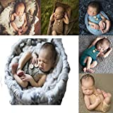 Newborn Baby Photography Prop Baby Outfits Cute Crochet Knitted Costume Hat Pants (grey)