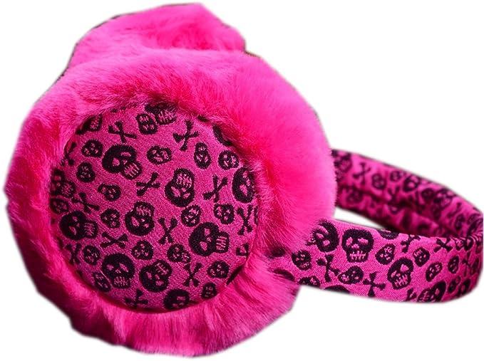 Earmuffs  Ear warmers Skulls and roses