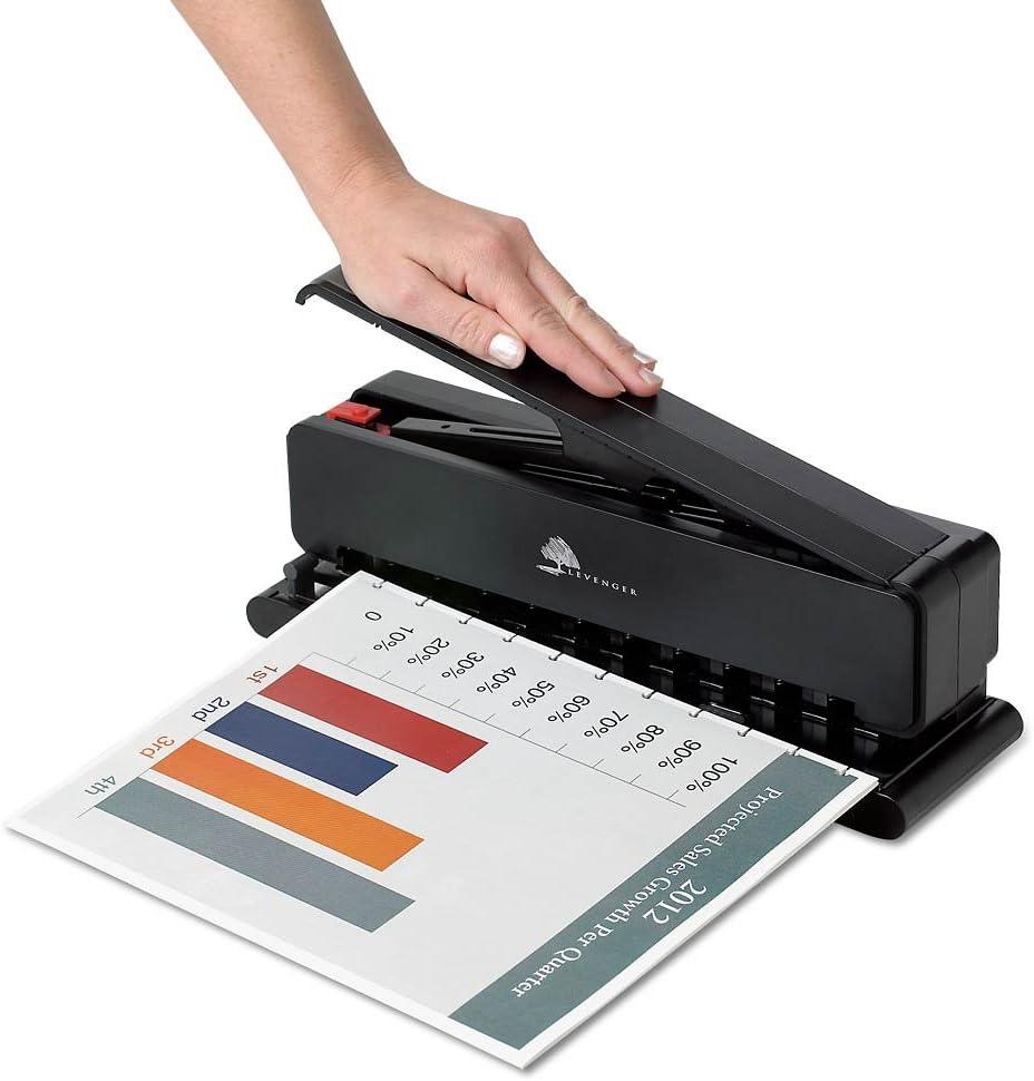 Perforadora 15 hojas con guía de papel para encuadernacion