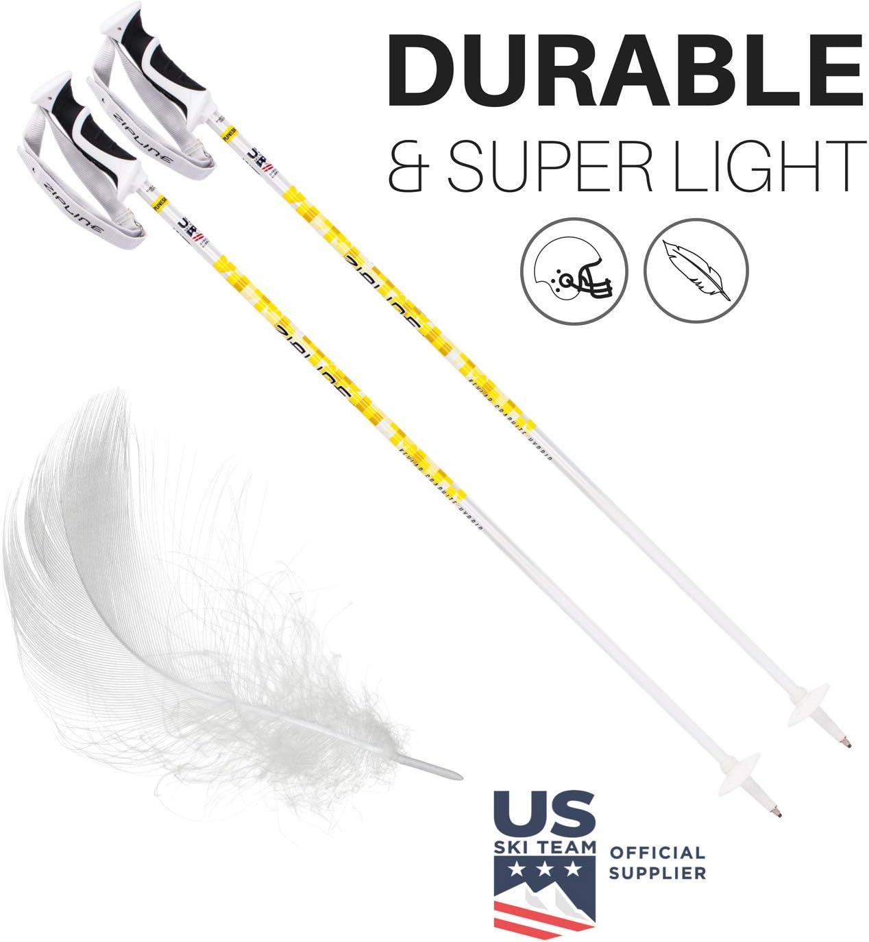 Ski Poles Zipline Graphite Hybrid Composite Podium 16.0 K Ski Team Official Supplier U.S