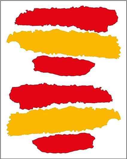 Artimagen Pegatina Bandera Trazos España 2 uds. 65x40 mm/ud ...