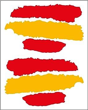 Artimagen Pegatina Bandera Trazos España 2 uds. 65x40 mm/ud.: Amazon.es: Coche y moto