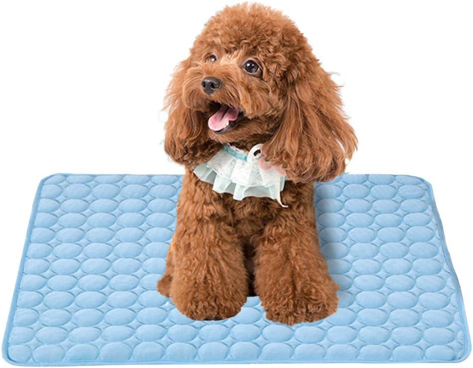 Branger Manta Perro Manta Refrescante Perro Seda de Hielo Manta Mascota Disipa el Calor de Tu Mascota Mantenlos Frescos en el Cálido Clima de Verano (Big)