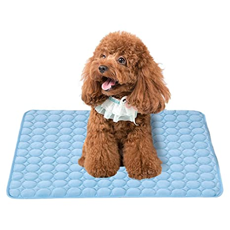Branger Manta Perro Manta Refrescante Perro Seda de Hielo Manta Mascota Disipa el Calor de Tu