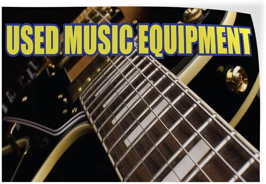 Decal Sticker Multiple Sizes Used Music Equipment Business Used Music Equipment Outdoor Store Sign Black Set of 10 24inx16in