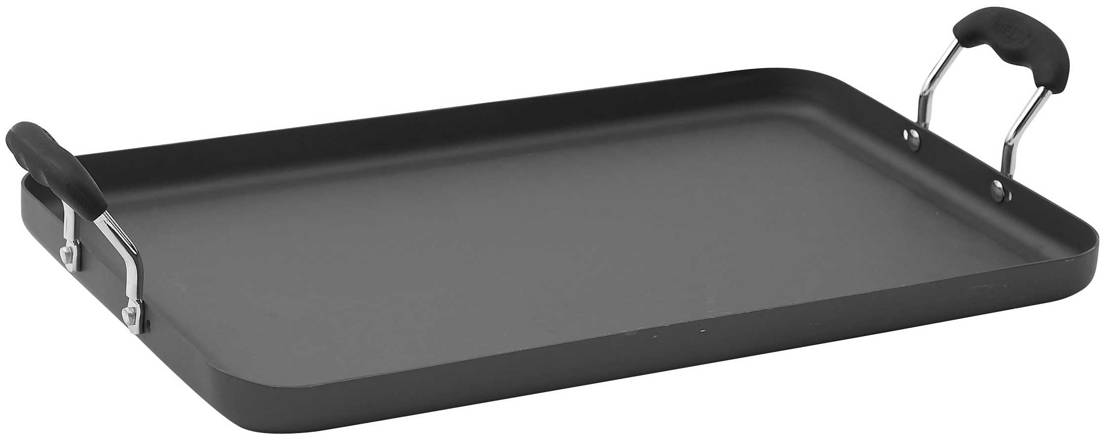 WINCO HAG-2012 Griddle, 19-1/2-Inch by 12-1/4-Inch, Hard Anodized Aluminum