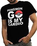 LeRage Shirts Funny Pokemon Go is My Cardio Tee Men's