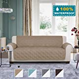 100% Waterproof Sofa Cover Couch Cover 3 Cushion Sofa Slipcover for Living Room Furniture Protector Cover with Non Slip…