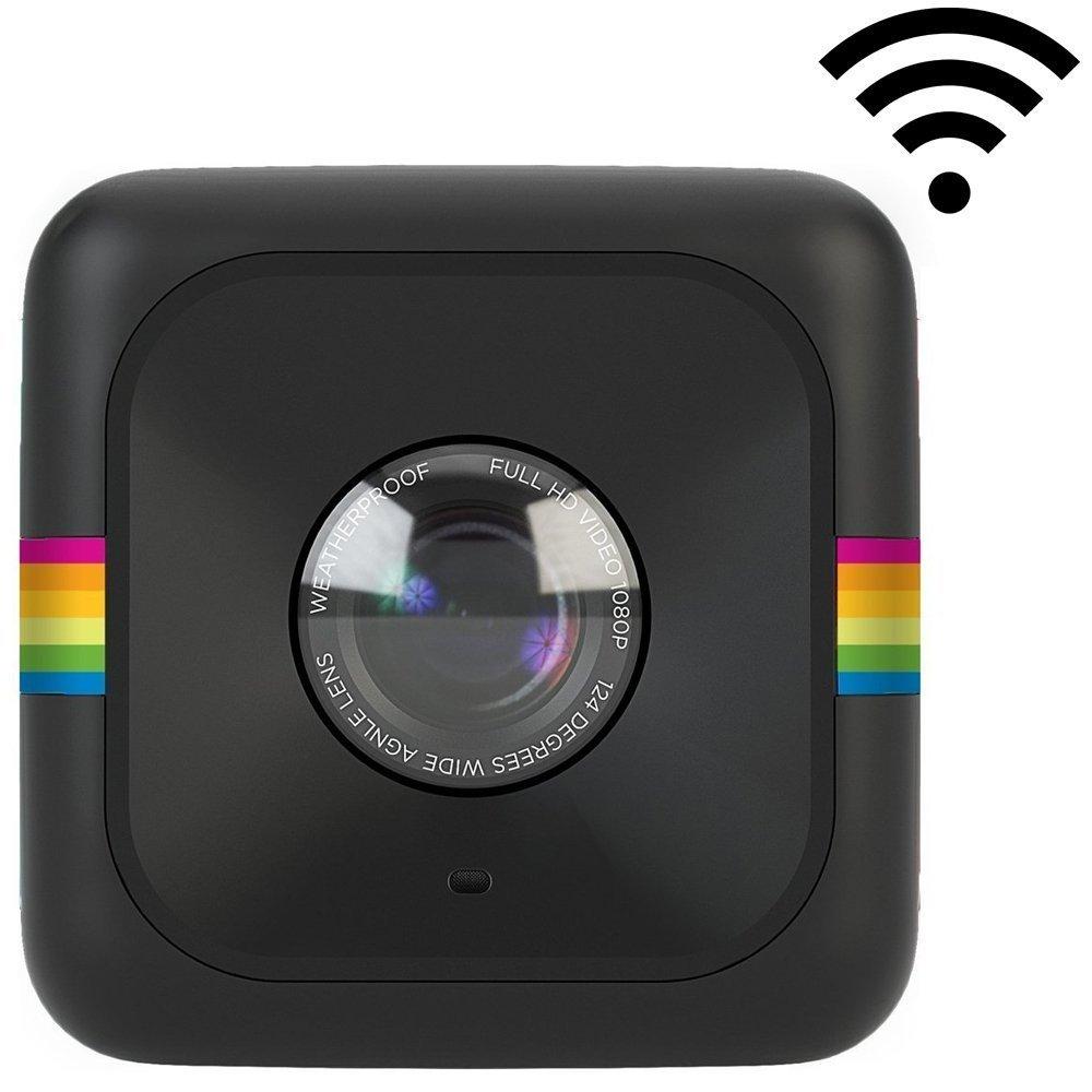 Polaroid Cube+ Minicámara de acción de estilo de vida de 1440p con Wi-Fi y estabilización de imagen (negra)