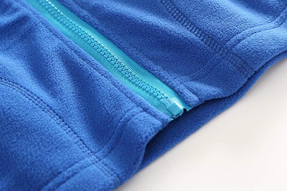 MIDUDU 2-9 Years Kids Lightweight Sweater Vest Fleece Solid Color Zipper Sleeveless Pocket Jacket