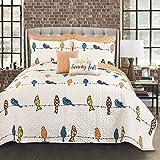 Lush Decor Lush Décor Rowley Birds 7 Piece Quilt Set, King, Multi