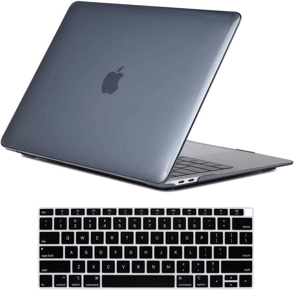 """Crystal black for 2018 New Macbook Air 13.3/"""" A1932 Case Shell"""