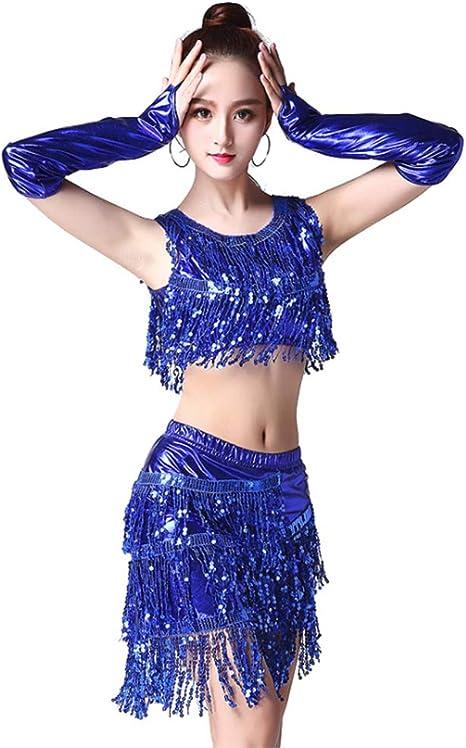 YMMONLIA Vestido Baile Latino,Vestido Baile Latino NiñA ...
