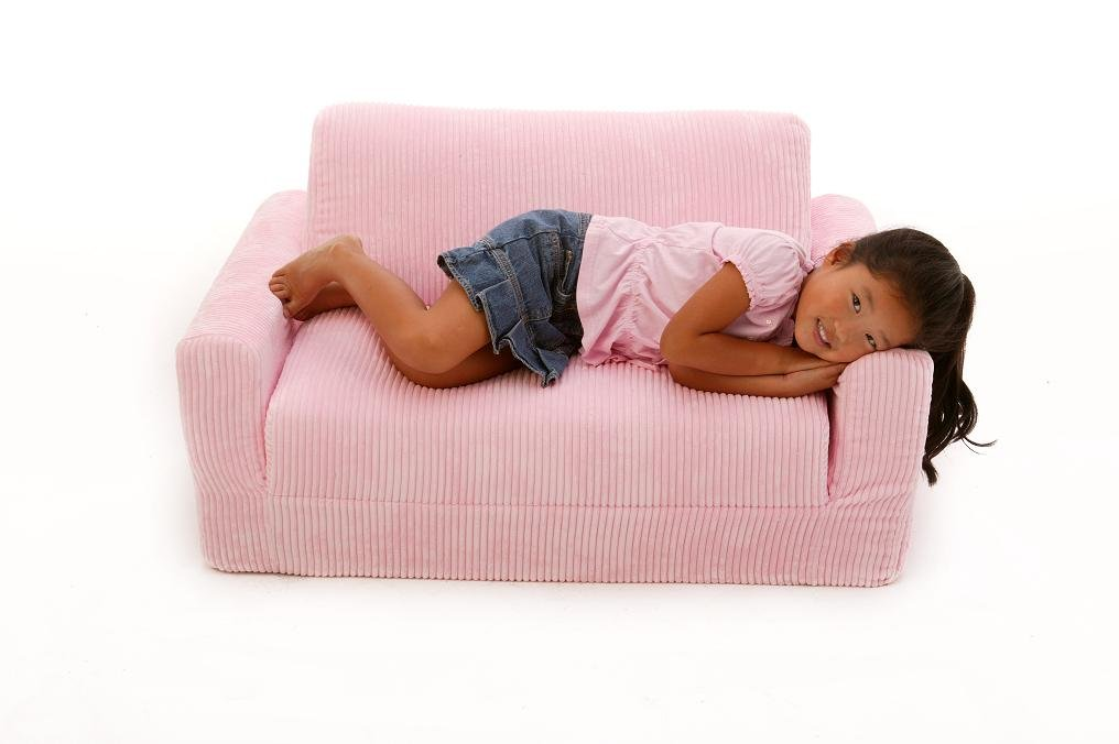 Fun Furnishings  Sofa Sleeper, Pink Chenille