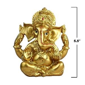 Indian Ganesh Statue Diwali Decor - Hindu Statue for Diwali - Ganesha Statue Indian Items