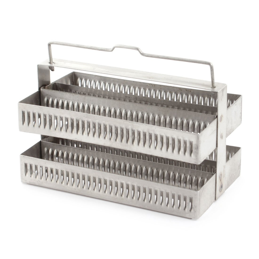 Lab Spare Parts Microbiology Stainless Steel Staining Rack 60 Slots Sourcingmap a14091000ux0463