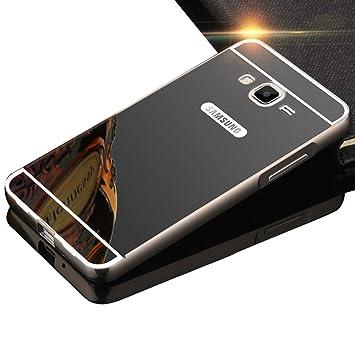 Sunroyal Premium Espejo Funda Para Samsung Galaxy Grand Prime G530 G530H G5308 Aluminio Carcasa Case Ultra Thin Mirror Efecto Metal Bumper Shell Cover ...