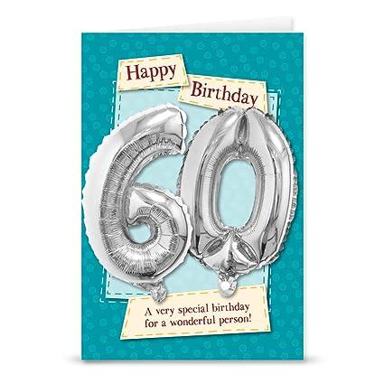 Garlanna G2693 - Tarjeta de felicitación de 60 cumpleaños ...