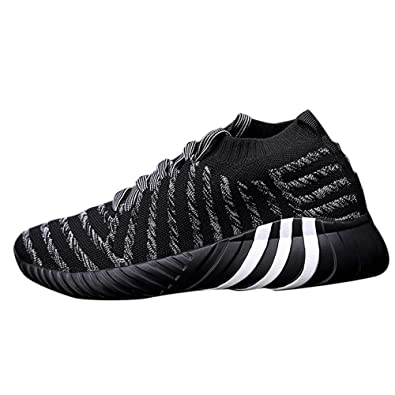 981617baad8f29 Holeider Sneaker Herren Laufschuhe Sportschuhe Atmungsaktiv Gemütlich Licht  Freizeitschuhe Schnürschuhe Low-Top Socken Schuhe 3