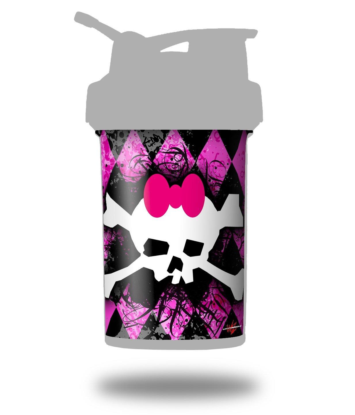 ピンクダイヤモンドスカル – デカールスタイルスキンラップFits Blenderボトル22oz Prostak (ボトルは含まれません B06X6LK6MT
