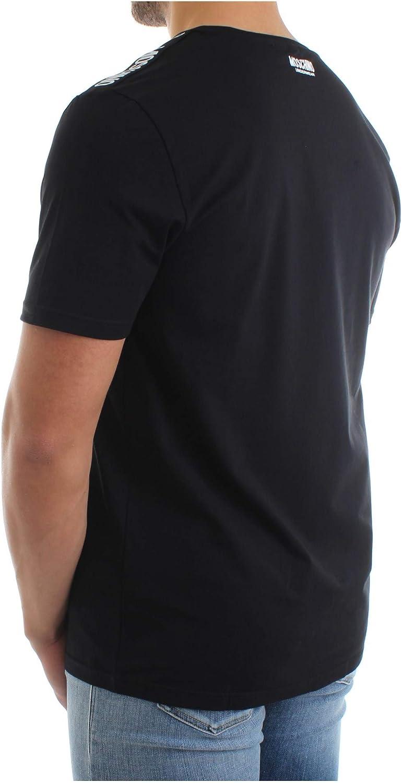 MOSCHINO Underwear Plain Tape T-Shirt in Black