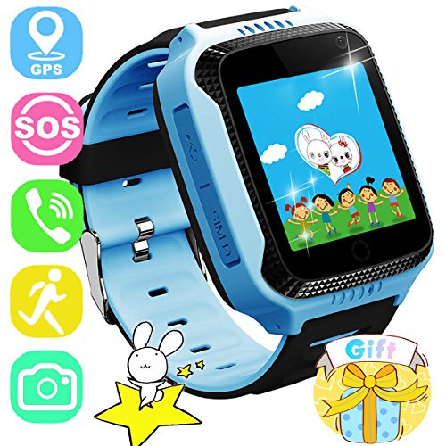 ONMet Kids GPS Tracker Smart Watch with Locator Camera,Math Game,Pedometer,SOS Call,Voice Chatting,Remote Monitor Anti Lost Kid Smartwatch for Girls Boys Compatible with Android iPhone - Domain Locator