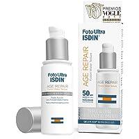 ISDIN FotoUltra Age Repair SPF 50, Fotoprotector Facial Triple Acción Antienvejecimiento | Textura Fusion Water Ultraligera | 50 ml