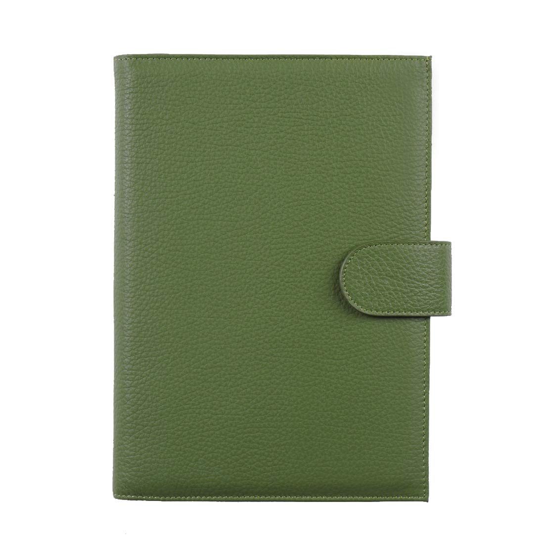 Planner Cover for Hobonichi Techo, Midori MD, Stalogy A5 Notebooks - Moterm Genuine Leather Notebooks Cover with Pen Loop, with Card Slots and Pockets (A5, Milled-Green) by Moterm
