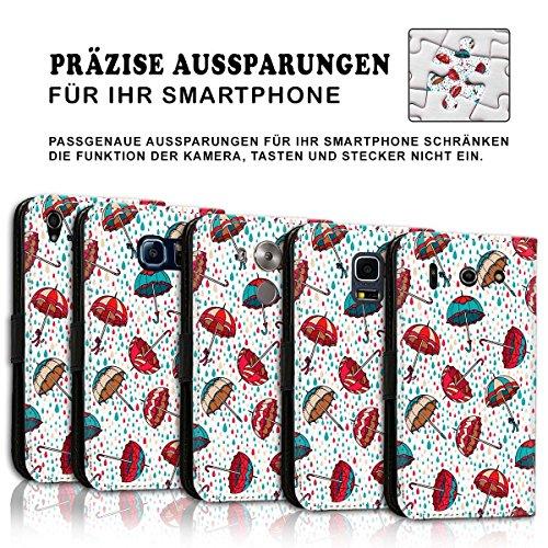 Wallet Book Style Flip Handy Tasche Case Schutz Hülle Schale Motiv Etui für Apple iPhone 4 / 4S - Design Flip MVD98