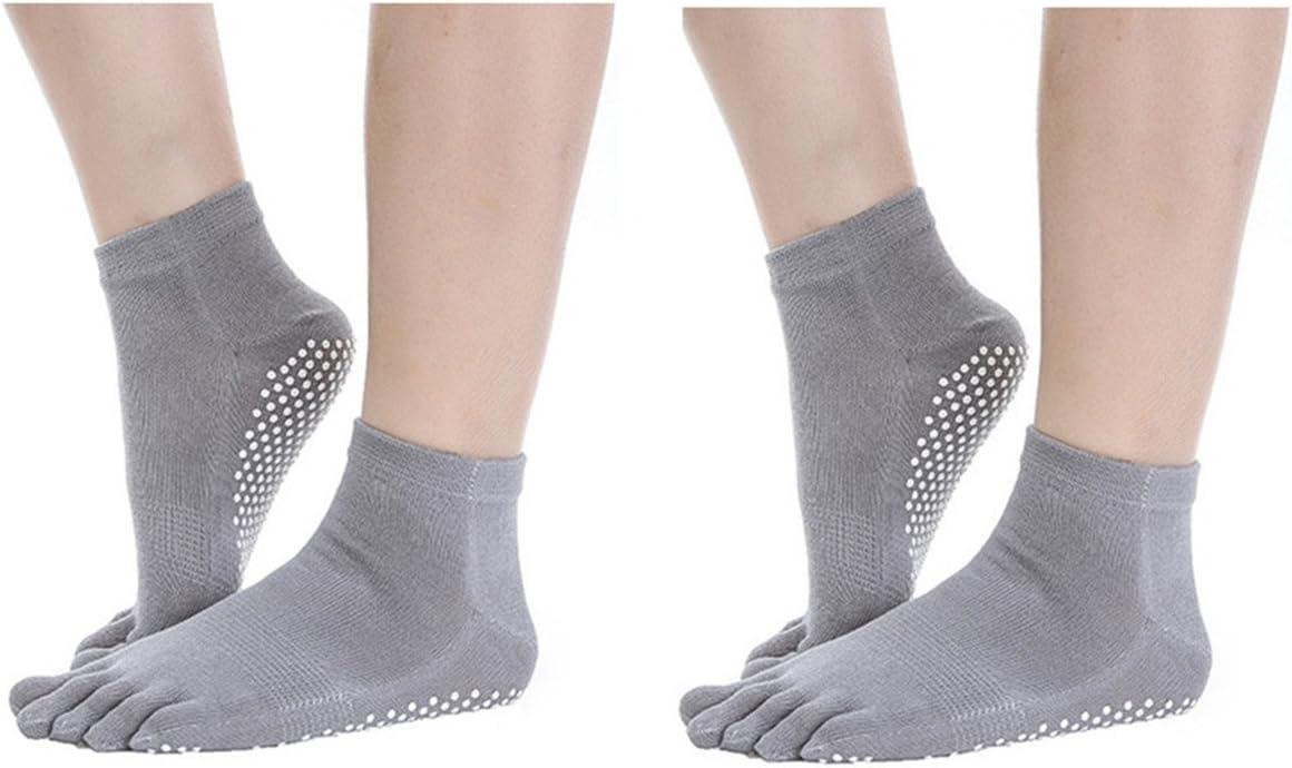 Pilates Ballet SANIQUEEN.G 2 Pairs Toe Yoga Socks Grip /& Non Slip Ankle Toe Sock Aerobic Exercis for Men and Women
