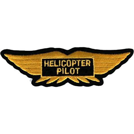amazon com apollo patch helicopter pilot wings sports outdoors