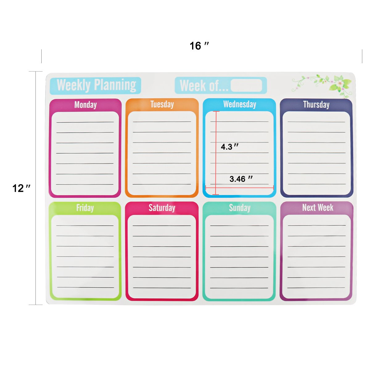 Bieco Magnetic Dry Erase Whiteboard Sheet for Kitchen Fridge,Includes 3 Magnetic Markers 1 Eraser with Magnets,Refrigerator White Board Shopping ...