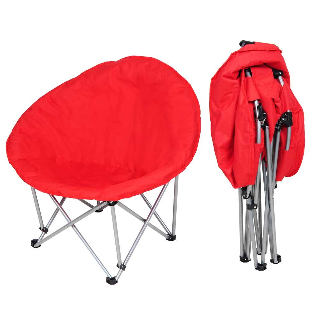 Amazon.com: Yescom Oversize Folding Saucer Padded Moon Chair Comfort Lounge  Bedroom Garden Furniture Red Seat: Kitchen U0026 Dining