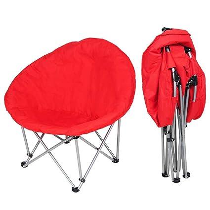 Amazon.com: yescom Oversized grande silla plegable de luna ...